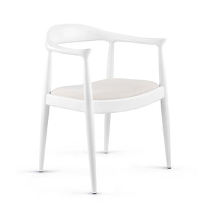 Bungalow 5 Danish Arm Chair — White