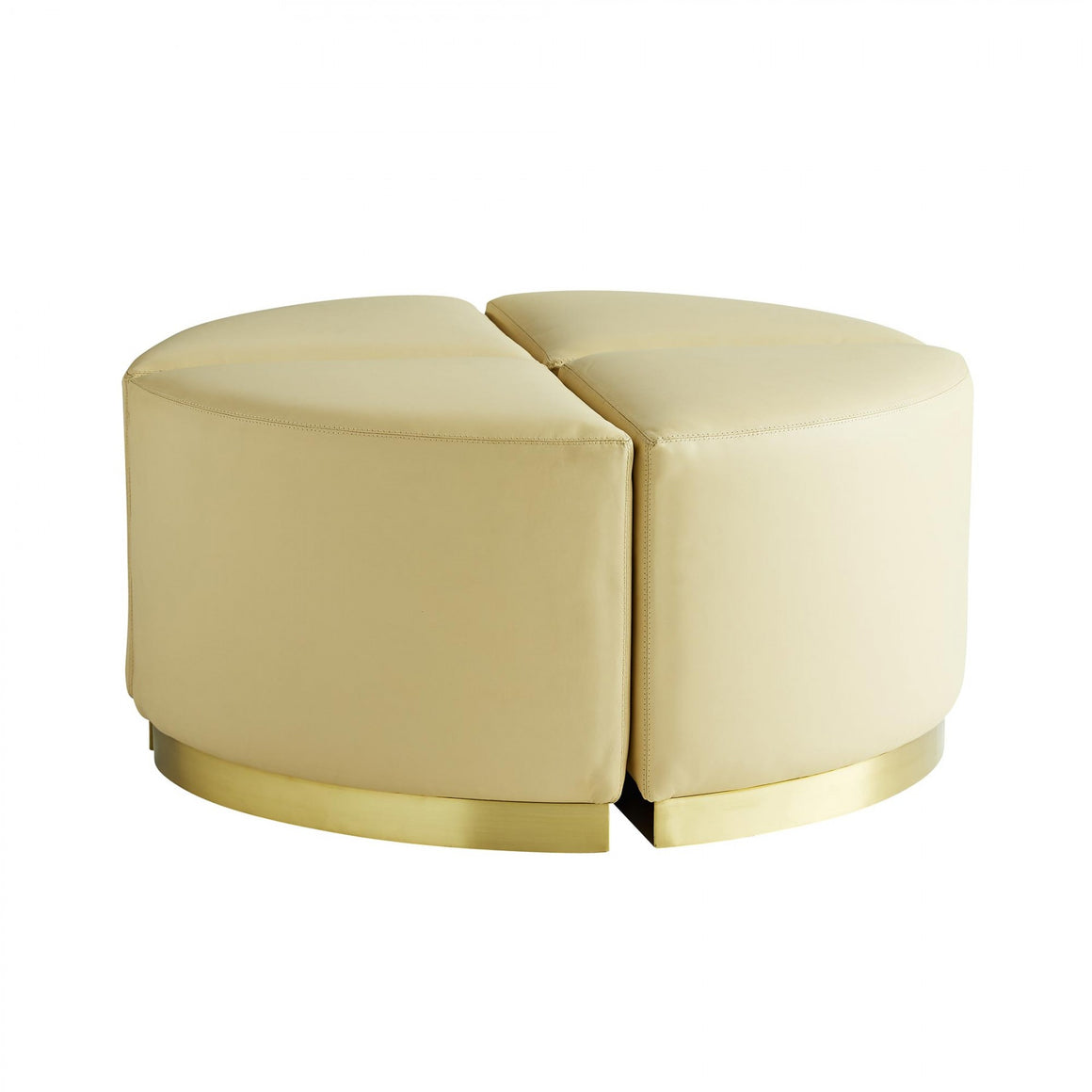 Arteriors Ecru Ottomans, Set of 4