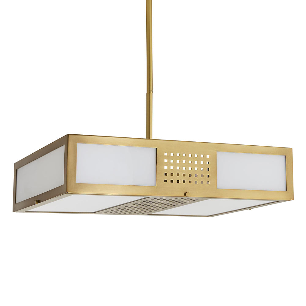 Arteriors Bisger Modern Square Pendant with Frosted Glass*