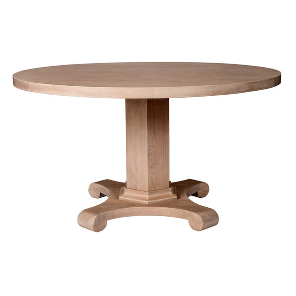 Drake Classical Dining Table with Pedestal – 25 Finish Options