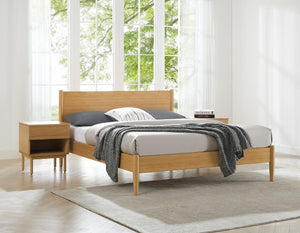 Ria Queen Platform Bed, Caramelized