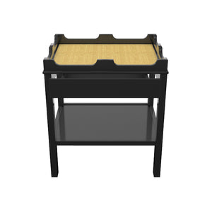 Edgartown 1-Drawer Lacquer Side Table – Black (Additional Colors Available)