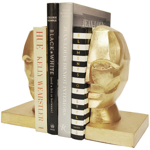 Worlds Away Modern Metallic Bookends – Gold