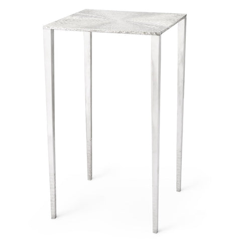 Bungalow 5 Hand Hammered Accent Table – Polished Nickel