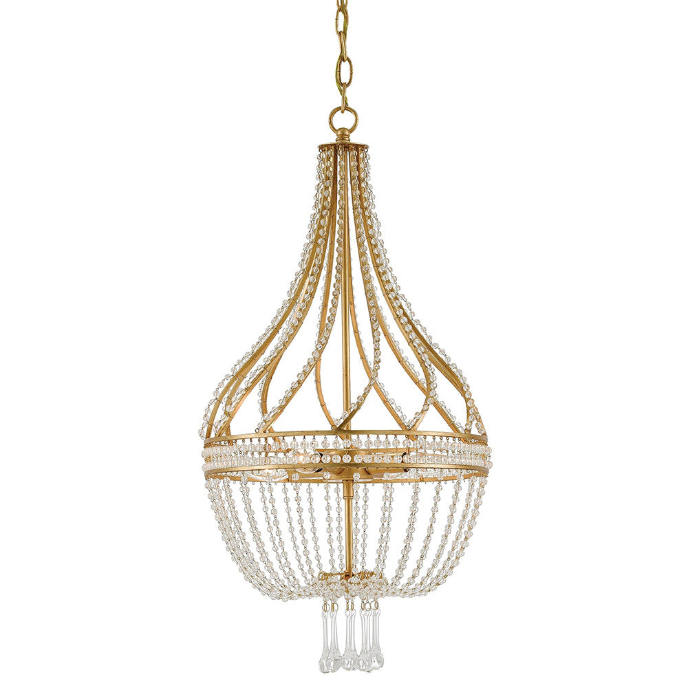 Currey and company empire crystal chandelier antique gold currey and company empire crystal chandelier antique gold aloadofball Images