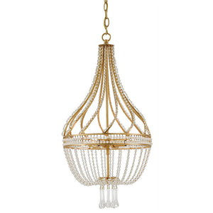 Currey and Company Empire Crystal Chandelier – Antique Gold