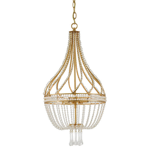 Empire Crystal Chandelier – Antique Gold