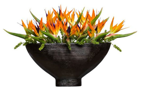 Silk Orange Bird Of Paradise Arrangement - Large