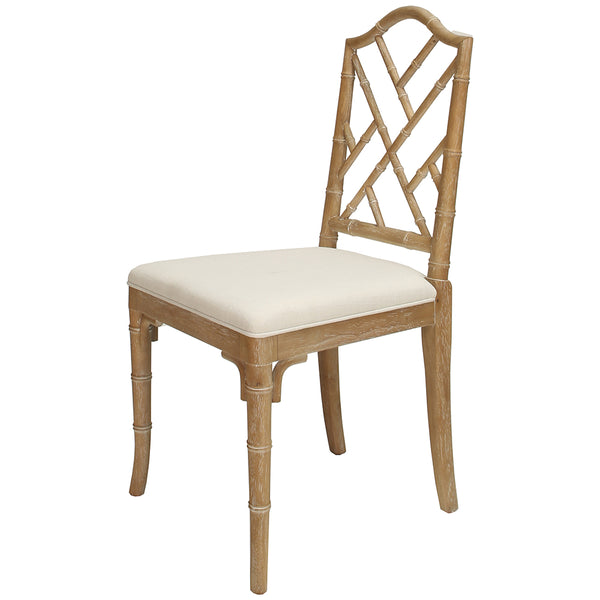 Worlds Away Chippendale Style Dining Chair – Cerused Oak