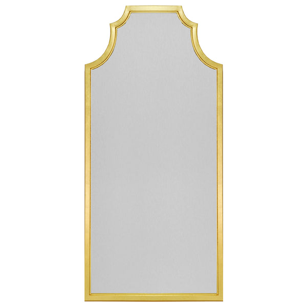 Worlds Away Pagoda Style Floor Mirror – Gold Leaf