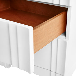 Bungalow 5 Flanders 3-Drawer Side Table , White