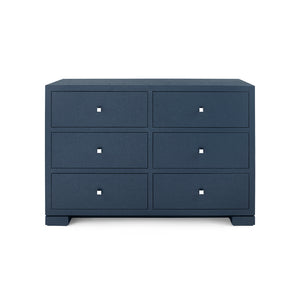 Bungalow 5 Frances Extra Large 6-Drawer, Navy Blue