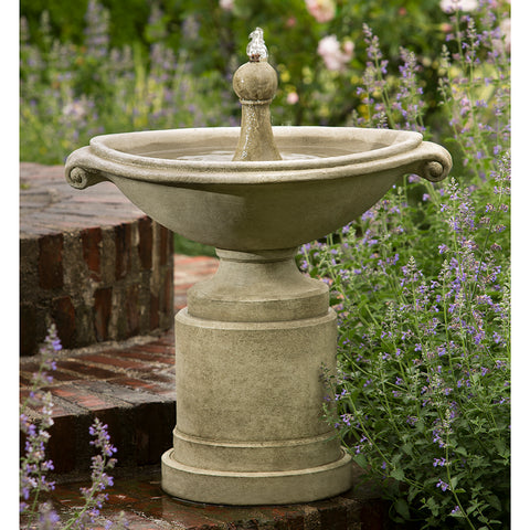 Roman Style Stone Fountain - Grey Patina