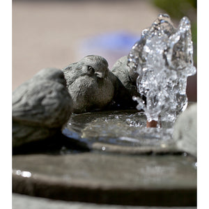 Bird Sculpture Fountain - Alpine Stone Patina