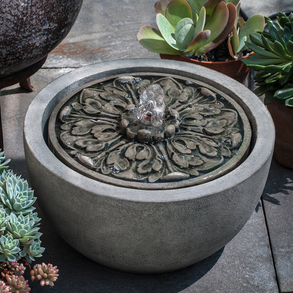 Medallion Stone Fountain - Alpine Stone Patina