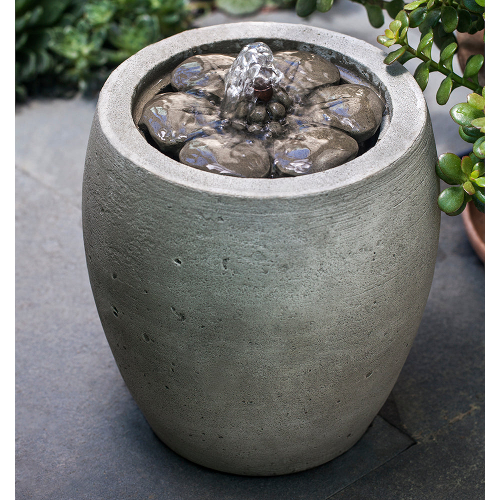Urn Shape Stone Fountain - Alpine Stone Patina