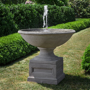 Large Round Stone Fountain - Alpine Stone Patina