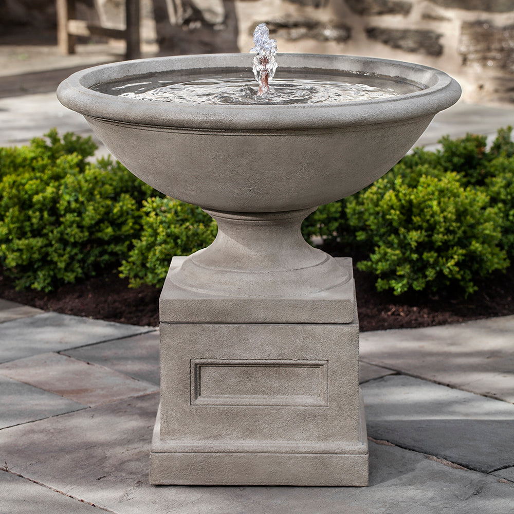 Large Classic Stone Fountain - Grey Stone Patina