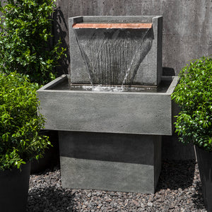 Falling Water Stone Fountain - Alpine Stone Patina