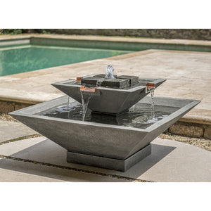 Large Cast Stone Tiered Fountain - Greystone (Additional Patinas Available)