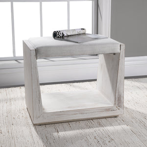 Uttermost Cabana White Small Bench