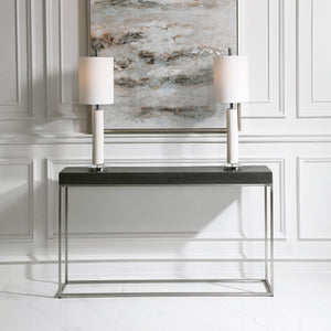 Jase Black Concrete Console Table
