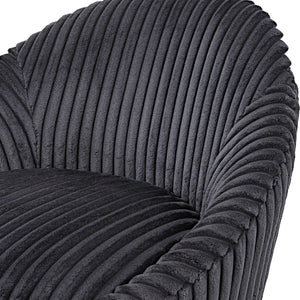 Crue Gray Fabric Swivel Chair