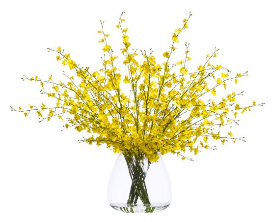 Faux Yellow Oncidium Arrangement