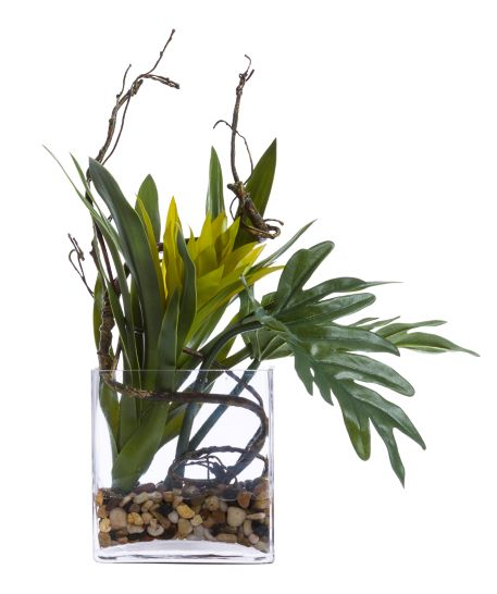 Faux Ginger & Philo Leaf Arrangement