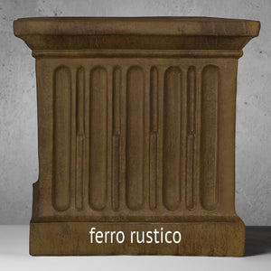 Tall Cast Stone Tapered Planter - Nero Nuovo (Additional Patinas Available)