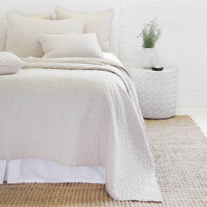 POM POM AT HOME HAMPTON-FLAX-COVERLET