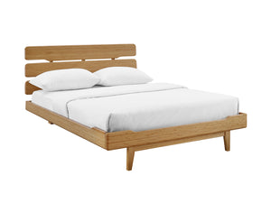 Currant Eastern King Platform Bed, Caramelized