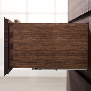 Currant Five Drawer High Chest, Oiled Walnut