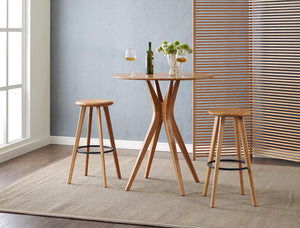 Mimosa Bar Height Stool, Caramelized, (Set of 2)