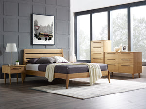 Sienna Eastern King Platform Bed, Caramelized