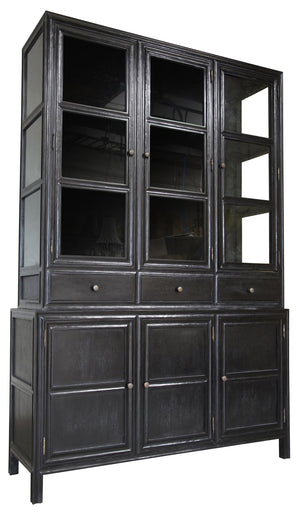 Noir Colonial Hutch - Black