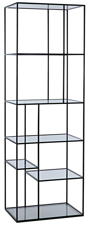 Noir Small Tulou Shelves - Black Metal
