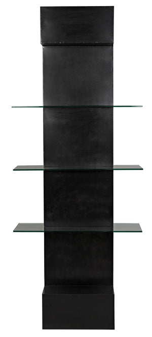Noir Colombo Metal & Glass Bookshelf