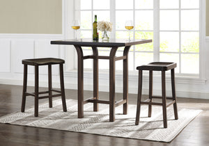 Tulip Counter Height Stool, Black Walnut, (Set of 2)