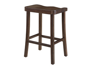 Tulip Bar Height Stool, Black Walnut, (Set of 2)