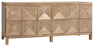 Noir Quadrant 3 Door Sideboard - Washed Walnut