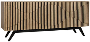 Noir Illusion Sideboard -Bleached Walnut