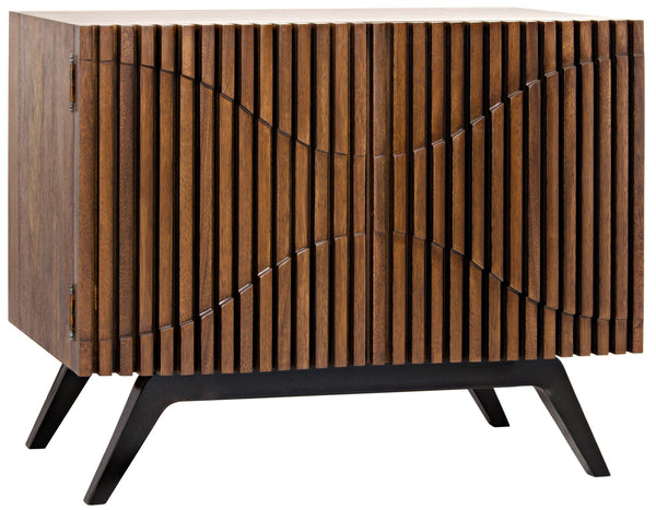 Noir Illusion Single Sideboard - Walnut