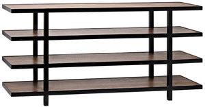 Noir Sima Shelving Unit - Dark Walnut
