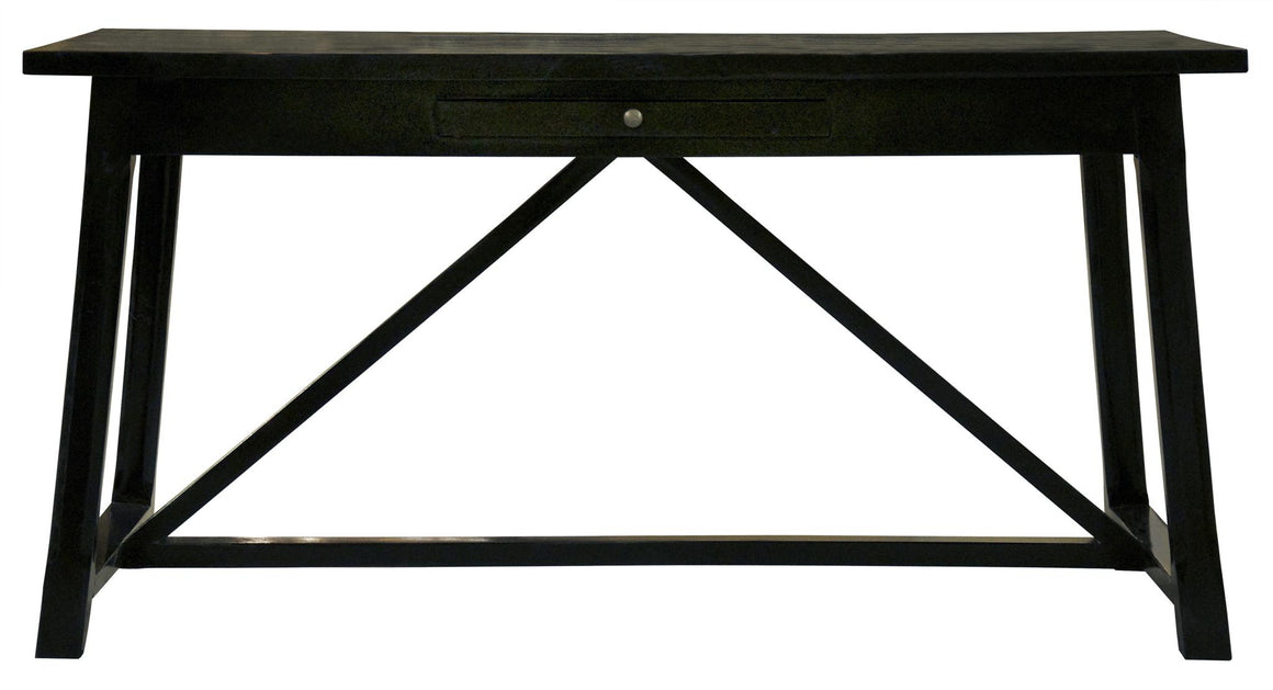 Noir Sutton Desk - Distressed Black