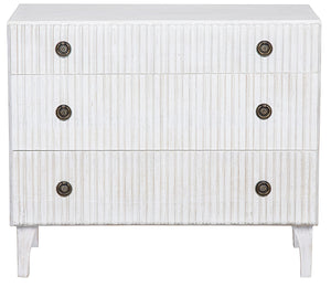 Noir Daryl 3 Drawer Dresser - White Wash