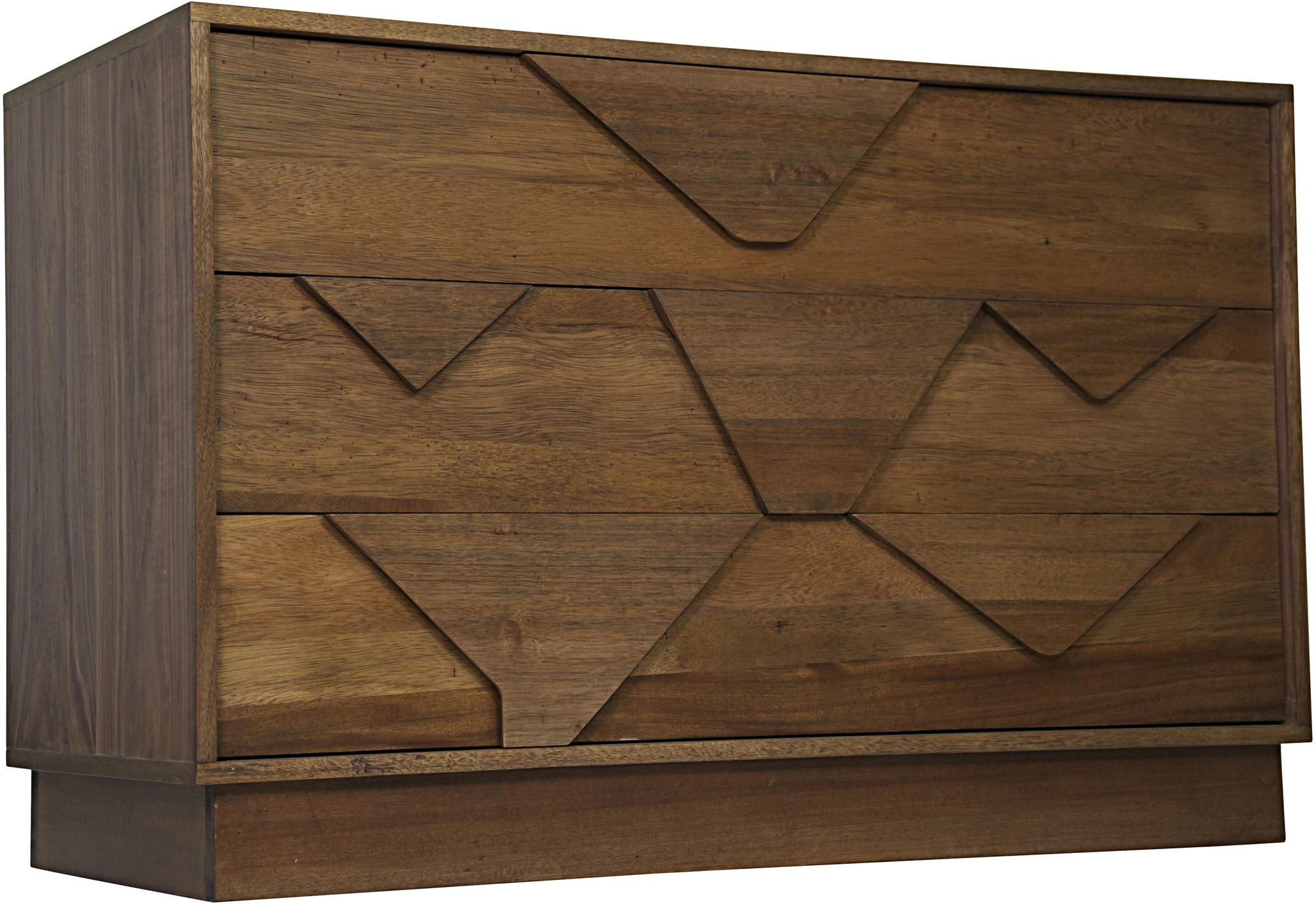 Noir Cascata 3 Drawer Chest Dark Walnut Scenario Home