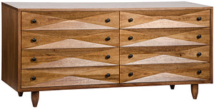 Noir 8 Drawer Diamond Dresser - Dark Walnut