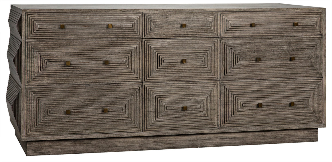 Noir Baram Dresser - Distressed Grey
