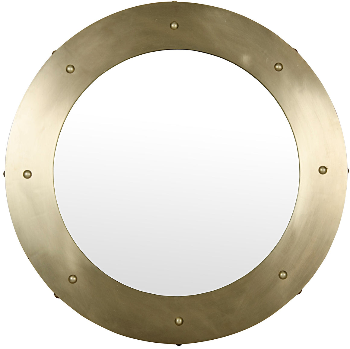 Noir Clay Mirror - Large - Antique Brass